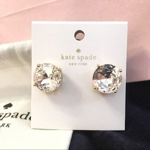 Kate Spade Large gumdrop rhinestone earrings